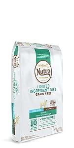 Nutro Limited Ingredient Dry Dog Food, Adult Dog Food, Dog Kibble, Grain Free Dog Food,