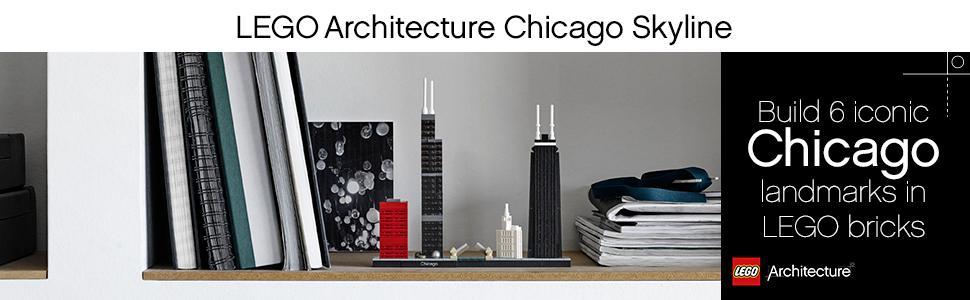 lego architecture, chicago skyline,