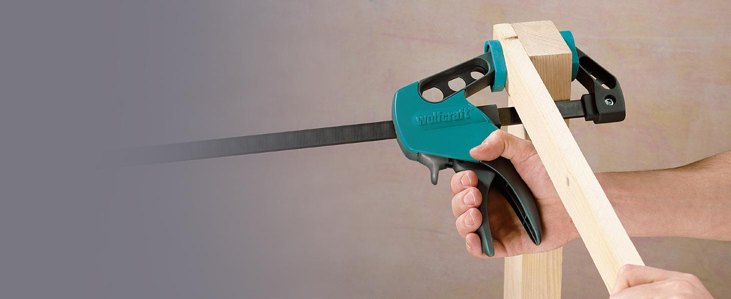 einhandzwinge ehz easy wolfcraft 3023000 pro schrank spannen werkzeug schrankspanner spannwerkzeug