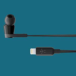 Lightningコネクタへの変換端子なしで使用できるカナル型イヤホン
