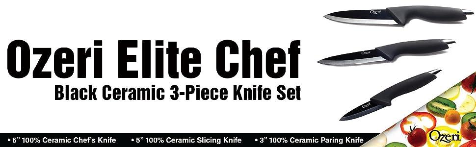 ceramic cutting set; santoku; paring knife; santoku knife; utility knife; ceramic knives; cutlery