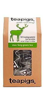 teapigs tea, mao feng green tea, mao feng tea, whole leaf