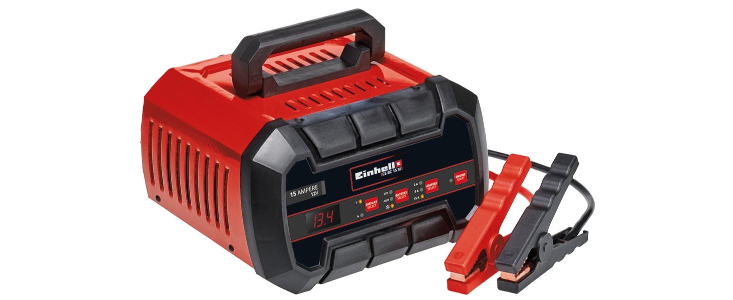 Einhell Batterie Ladegerät Ce Bc 15 M Für Gel Agm Wartungsfreie Arme Blei Säure Batterien 12v Mehrstufiger Ladezyklus Mikroprozessorgesteuert Und überwacht Baumarkt
