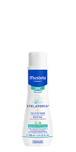 Stelatopia Bath Oil is a gentle, soothing cleanser for your baby's eczema-prone skin. Fragrance free