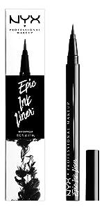epic ink liner, nyx cosmetics, liquid eyeliner, nyx