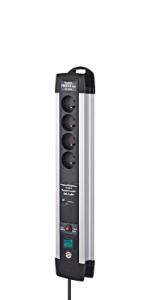 Brennenstuhl Premium Protect Line Block Mit Überspannungsschutz 30 000 A Schwarz 1391001304 Baumarkt