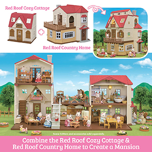 calico critters red roof country home gift set calico critters red roof cozy cottage calico critters