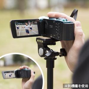 ビデオ撮影ではブレ防止、腕の疲れが軽減