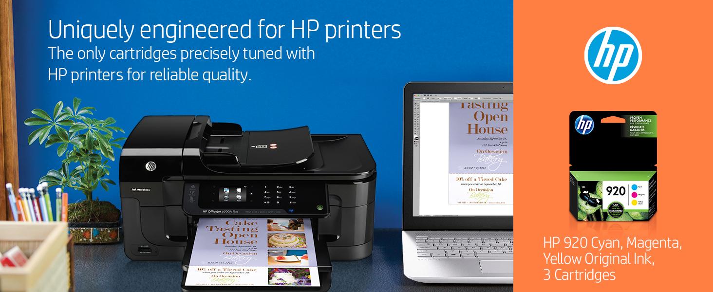 Amazon.com: HP 920 cartuchos tinta originales de color cian ...