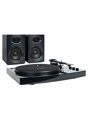 mb-tr518k bluetooth wireless turntable with speakers black colour