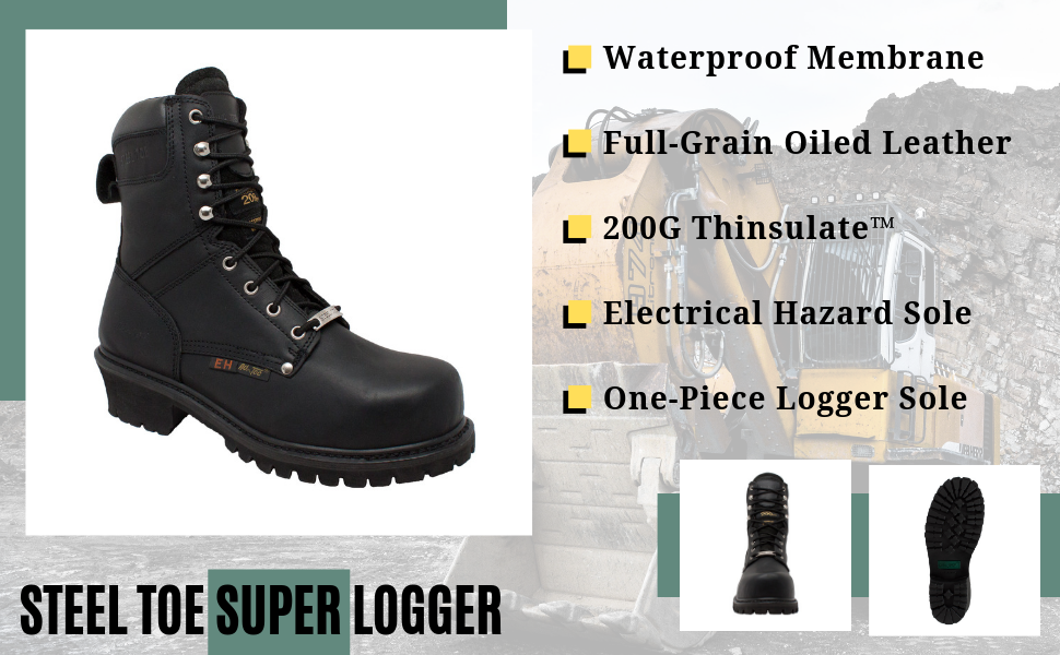 trail work construction safety support wide tall hefty wide fits all leather black tan beige pull on