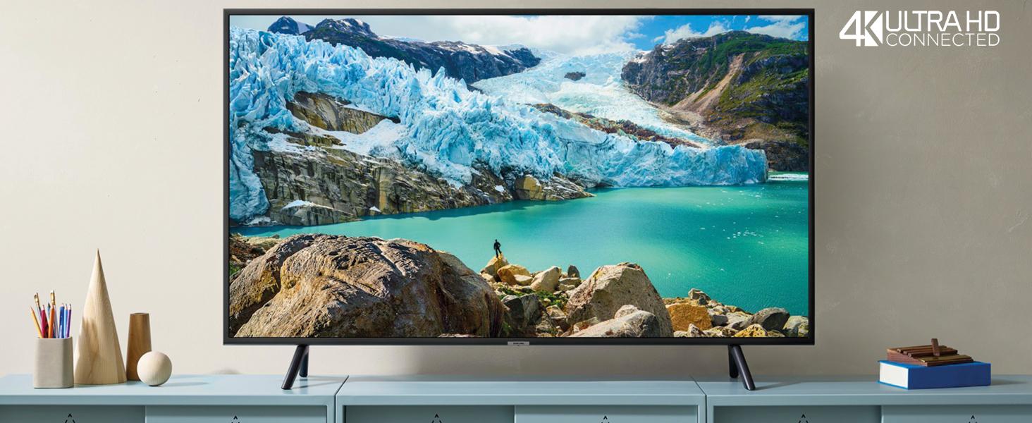 "Samsung UE55RU7170U Smart TV 4K Ultra HD 55"" Wi-Fi DVB-T2CS2, Serie RU7170, 3840 x 2160 Pixels, Nero, 2019"