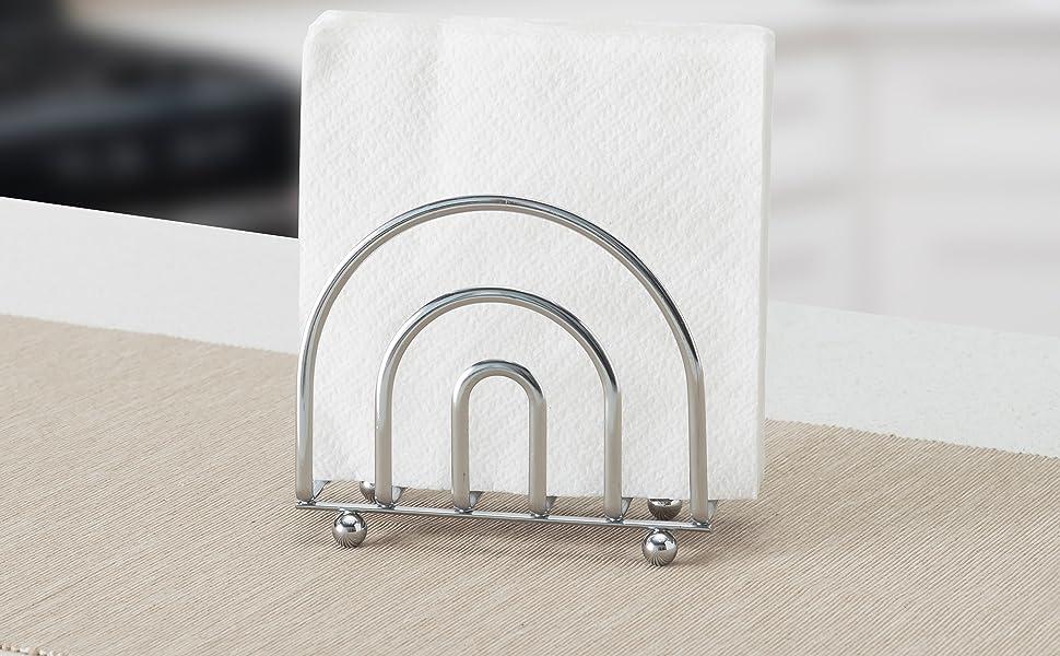 Indoor /& Outdoor Use Freestanding Tissue Dispenser For Kitchen Countertops Modern Farmhouse Wood Napkin Holder Picnic Table Blue Flower Dining Table