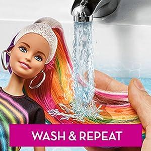 Barbie FXN96 Rainbow Sparkle Hair Doll: Amazon.co.uk: Toys