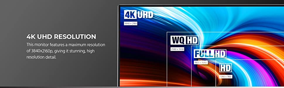 4K UHD Resolution of 3840x2160p, giving it stunning high resolution detail
