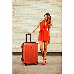 fashion luggage hardside spinner