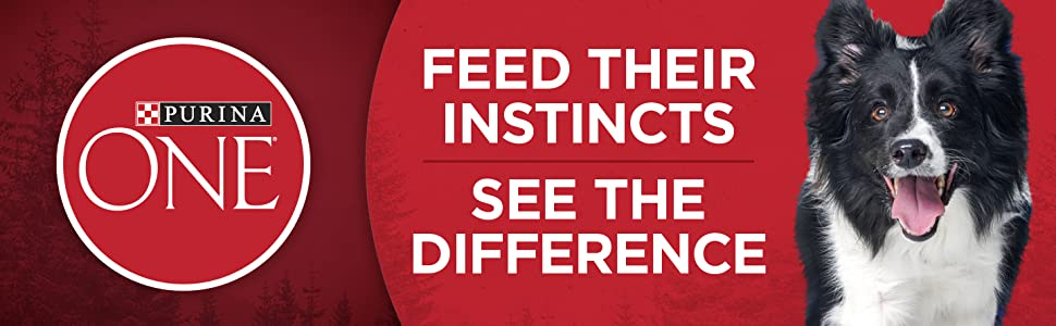 Purina One. Feed their instincts. See the difference.