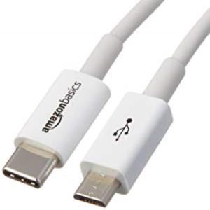 Amazonベーシック USBケーブル タイプC to マイクロB 2.0 0.9m ホワイト