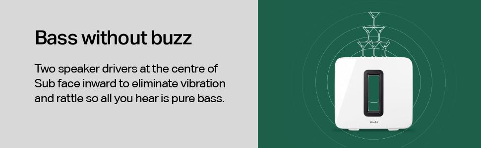 Sonos Sub - Bass with buzz