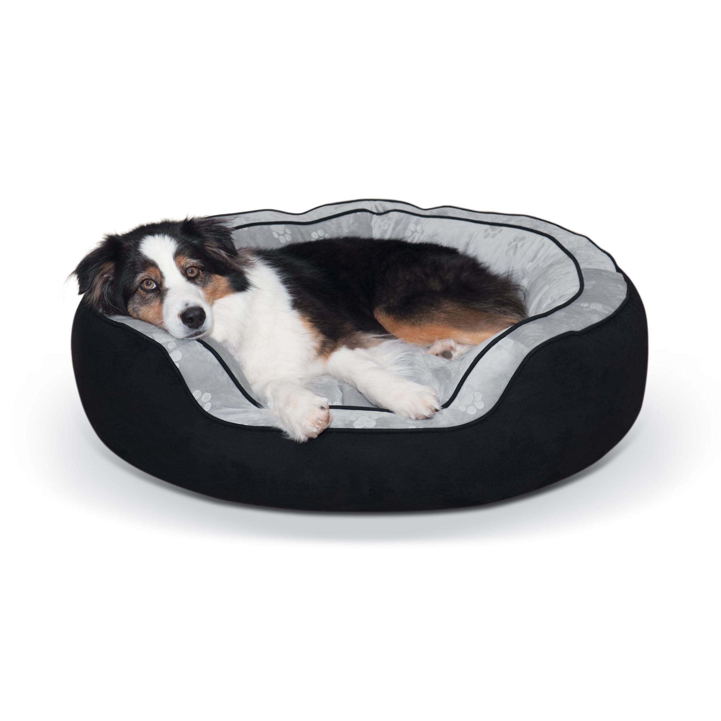 Amazon.com : K&H Pet Products Round N' Plush Bolster Bed