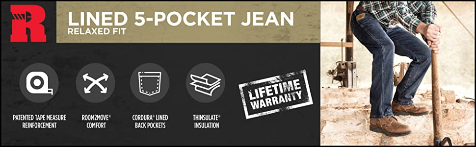 RIGGS Workwear Lined Relaxed Fit Jean