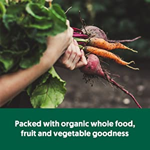 Packed with organic whole food, fruit and vegetable goodness