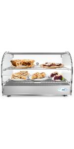 commercial countertop display warmer mercahdiser pizza restaurant food heated cabinet case pretzel