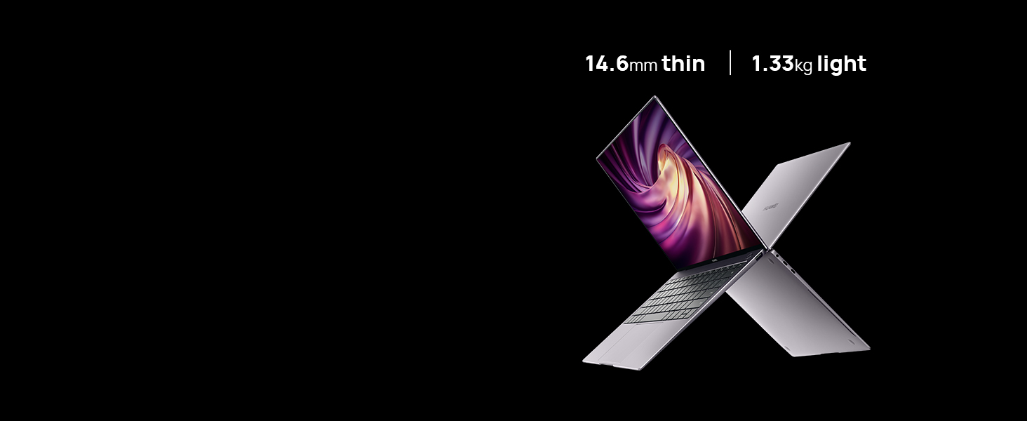 14.6mm thin, weighs 1.3kg
