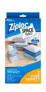 Superbe ... Ziploc Space Bag, Cube Combo, 2 Count
