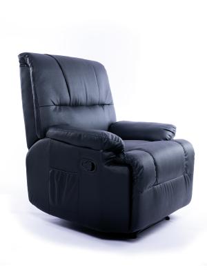 Imperial Confort Sillón Relax con Reclinación Manual Y Masajes, Negro, Talla Unica