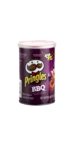 Pringles Crisps Chips, BBQ, 2.5 oz (Pack of 12)