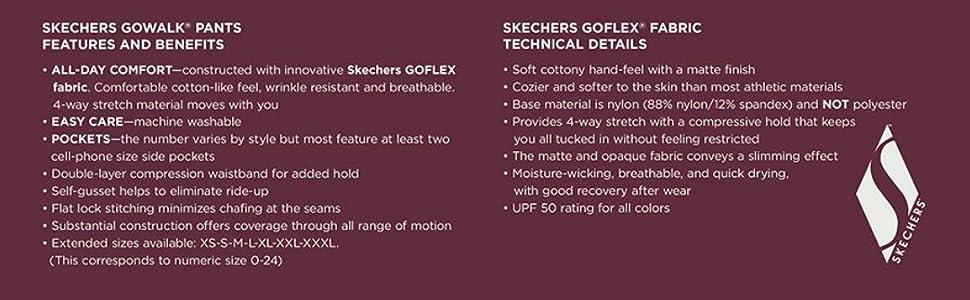 Skechers Go Walk Pants Details