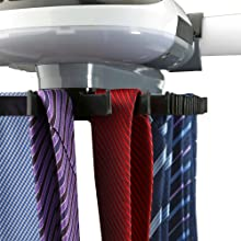 Mind Reader Automatic Motorized Revolving Tie and Belt Rack with Built in LED Light Closet Organizer Renewed