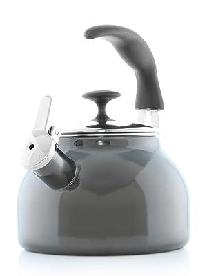 Enamel-on-Steel teakettle whistle MMP teapot kitchen design stay cool ergonomic craft coffee style