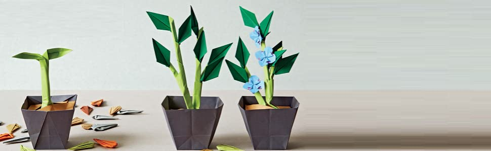 Flower Pot Fold - Origami - From HankoDesigns.com - YouTube | 300x970