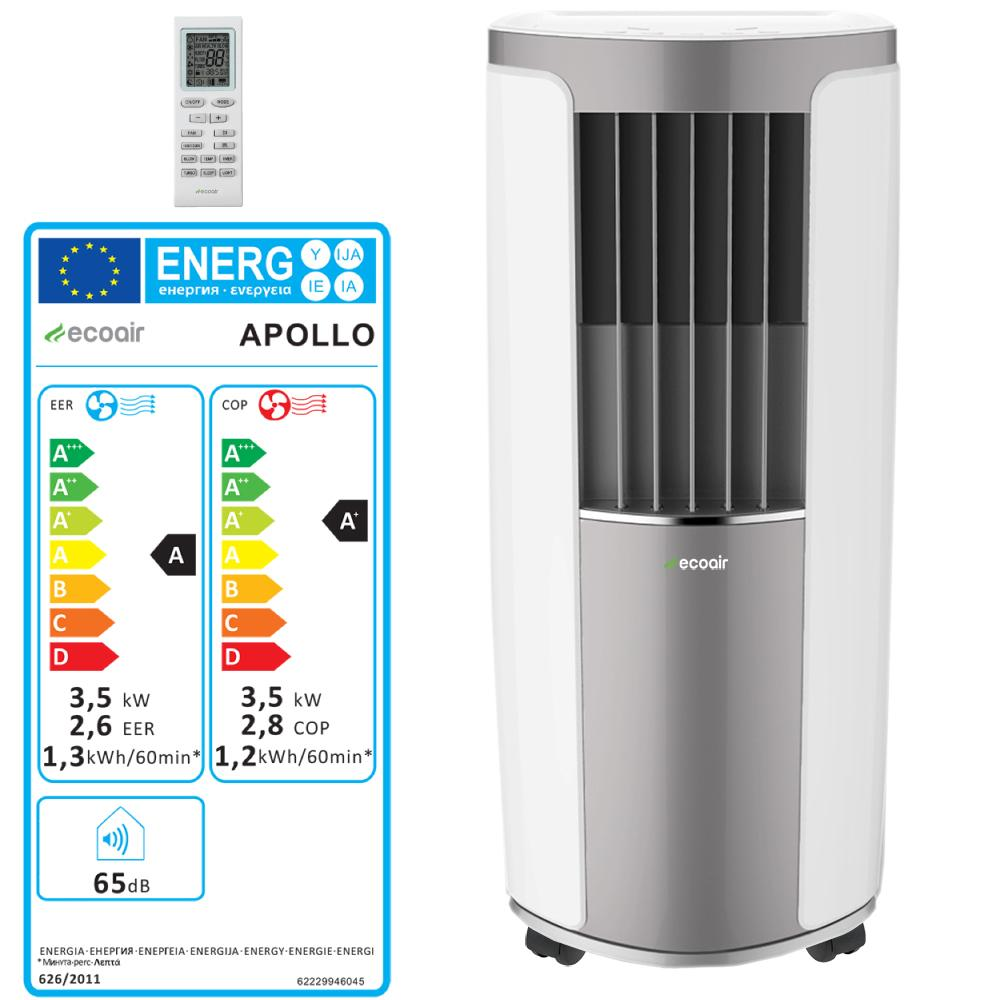 Portable Heat And Air Units : Ecoair apollo heating and cooling portable air