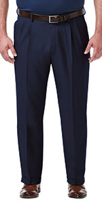 Haggar Dress Pants, big and tall fit, big & tall mens pants, Haggar big and tall, mens pleat pants