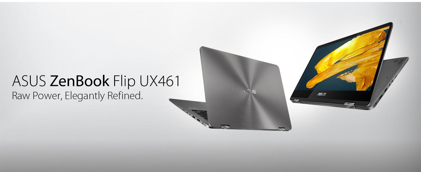 "ASUS ZenBook Flip UX461 Ultra-Slim Convertible Laptop 14"" FHD Backlit keyboard Fingerprint Stylus"