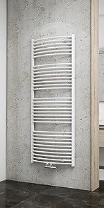 114 x 60 cm Alpinwei/ß Schulte H0411460 04 Venedig Designheizk/örper