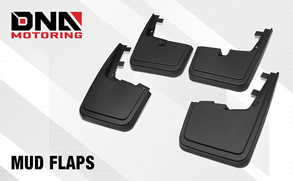 DNA MOTORING WFMK-002 Mud Guard Splash Flap for 15-18 Ford F150 Without OE Wheel Lip Moulding