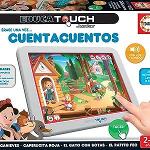 Amazon.es: Educa - EducaTouch Junior: Érase Una Vez… Cuentacuentos, con música y canciones, juego educativo para niños, a partir de 24 meses (15746)