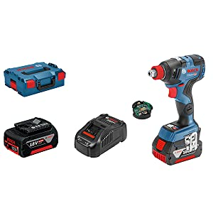 Bosch Professional - Atornillador de impacto a batería GDX 18V–200 C (2 baterías x5,0 Ah, 18V, par: 200 nm, en L-BOXX)