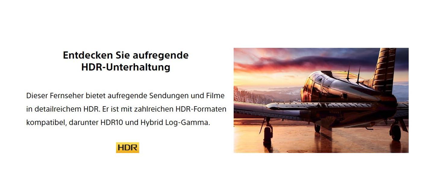 SONY Fernseher; HDR; WF665; Smart TV