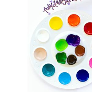Color Pallette, 15 Washable Tempera Colors, Blendable Colors, Vibrant Paint Colors
