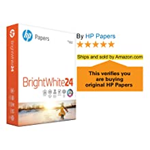 HP Papers BrightWhite24 ream of paper, 5 stars, ships and sold by Amazon.com verification