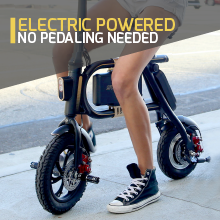 ebike e bike electric bicycle motorized scooter seat folding foldable escooter powered motorized gas