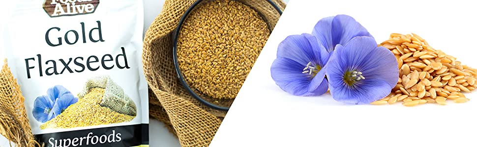 Alimentos Alive Oro semillas de lino orgánico, 14-Ounce ...