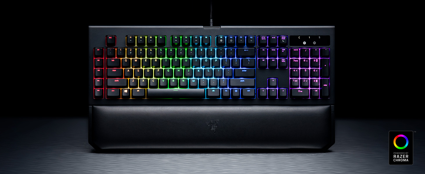 Razer Blackwidow Chroma V2 Tactile And Clicky Mechanical Gaming Keyboard X Te Powered By Synapse