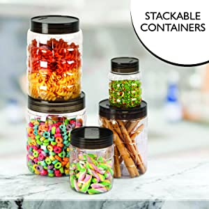 Cello Checkers Plastic PET Cannisters 18 pcs