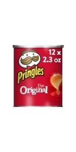 Pringles Crisps Chips, Original, 2.3 oz (12 Count)
